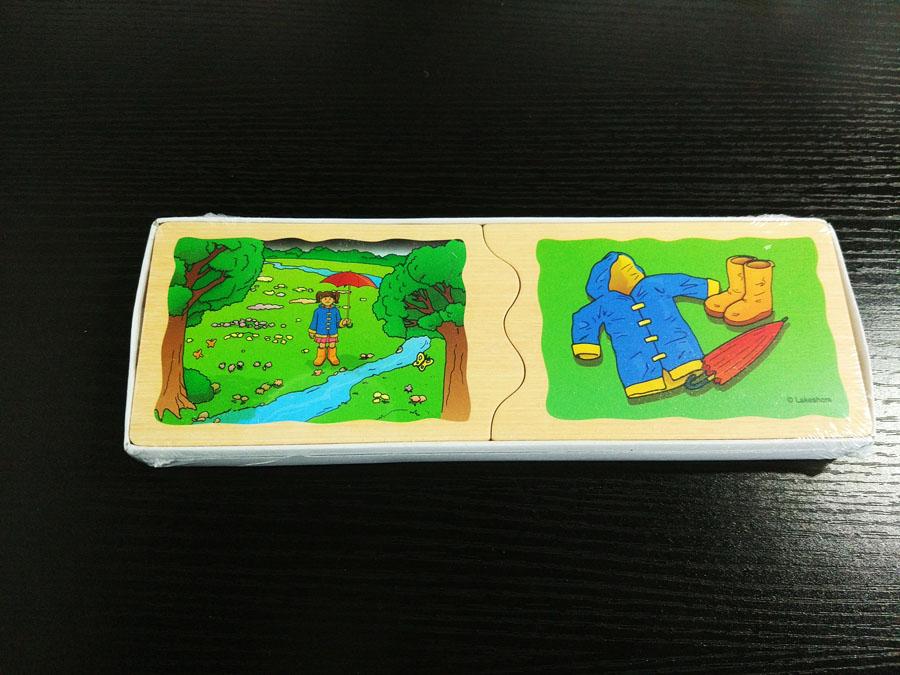 蒙氏早教木质卡片教具